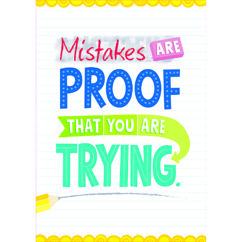MISTAKES ARE PROOF INSPIRE U POSTER