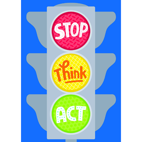 STOP THINK ACT INSPIRE U POSTER
