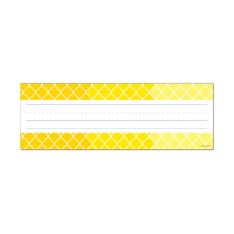 OMBRE YELLOW MOROCCAN NAME PLATES