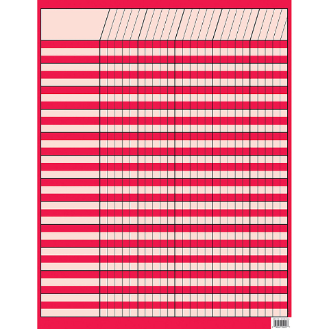 POPPY RED INCENTIVE CHART