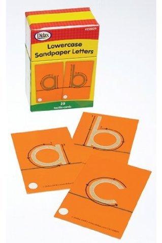 Tactile Sandpaper Lower Case Letters Set, Grades K - 3; no. DD-210829