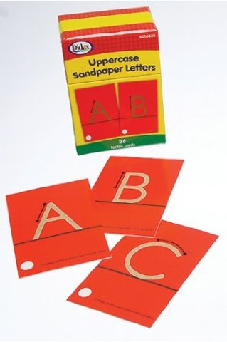 Sandpaper Tracing Uppercase Letters Set; no. DD-210830