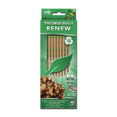 TICONDEROGA RENEW RECYCLED WOOD