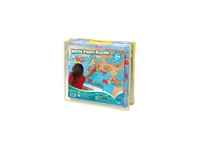 Educational Insights World Foam Map Puzzle | Wizard Of Math