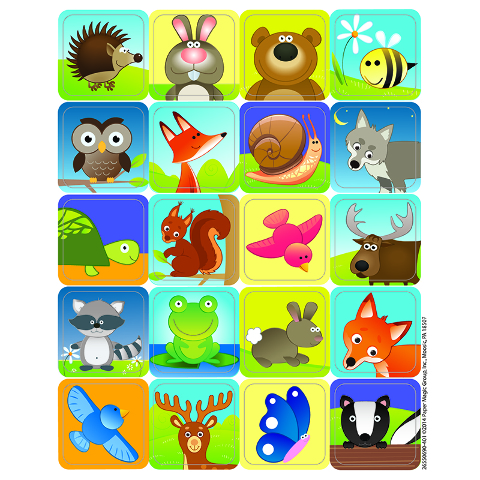 WOODLAND CREATURES THEME STICKERS