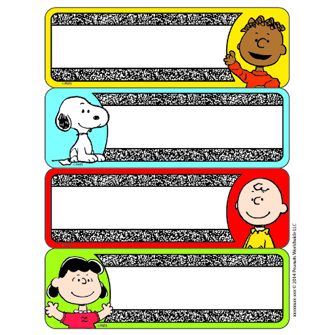 PEANUTS COMPOSITION LABEL STICKERS