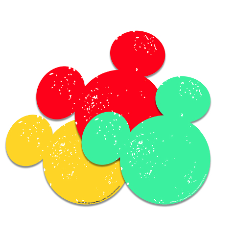 MICKEY MOUSE PAPER CUT OUTS