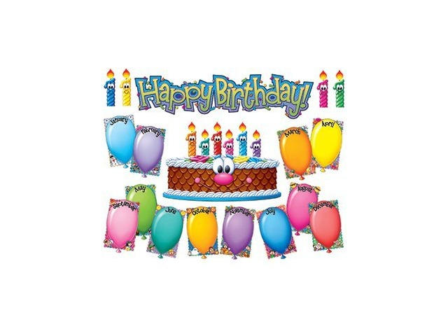 Eureka Birthday Kit Mini Bulletin Board Sets