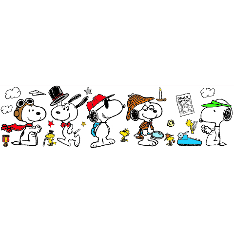 PEANUTS YEAR ROUND SNOOPY POSES BB