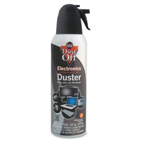 Falcon Safety Products Gas Duster, Compressed, 7oz., Black/White