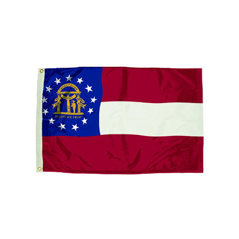3X5 NYLON GEORGIA FLAG HEADING &