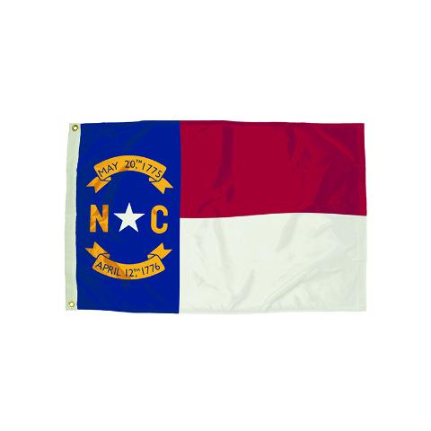 3X5 NYLON NORTH CAROLINA FLAG