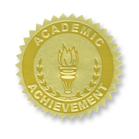 GOLD FOIL EMBOSSED SEALS ACADEMIC