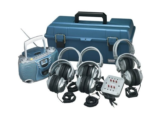 Hamilton Buhl 6 User Val-U-Pak CD Listening Center with SC-7V Deluxe Headset, MPC-5050 Boombox, Carrying Case