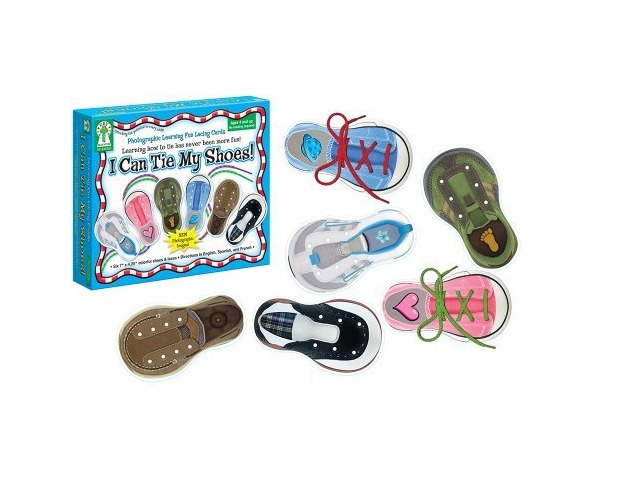 Carson Dellosa Key Education I Can Tie My Shoes Lacing Cards (846000)