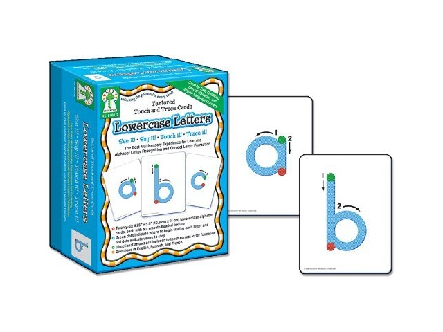 Textured Touch and Trace: Lowercase: The Best Multisensory Experience for Learning Alphabet Letter Recognition and Correct Letter Formation (Textured Touch and Trace Cards)