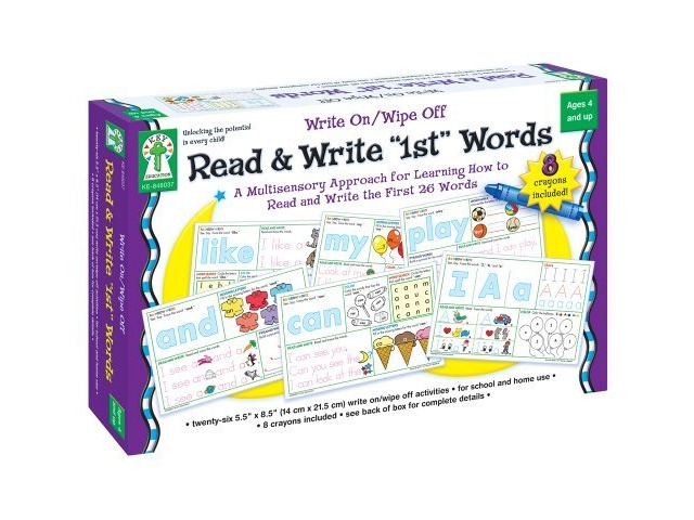 """Write On/Wipe Off: Read & Write """"1st"""" First Words"""