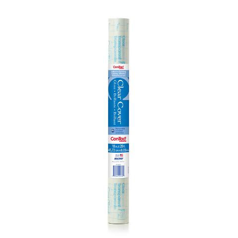 CONTACT ADHESIVE ROLL CLEAR 18X20FT