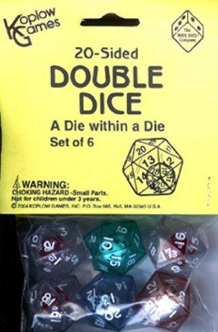 Koplow Games Inc. 20 Sided Double Dice