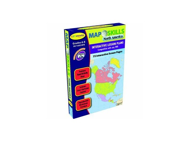 Map Skills North America Interactive Whiteboard Software