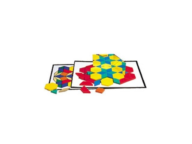 Learning Resources LER0264 Intermediate Pattern Block Design Cards, for Grades 2-6