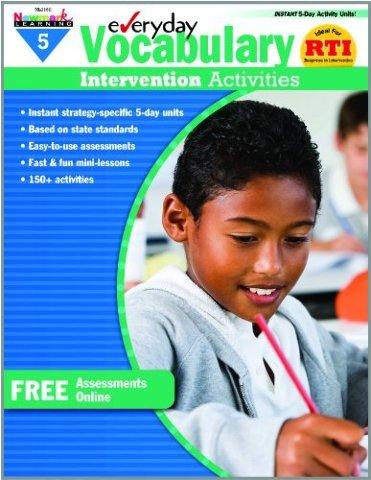 Everyday Vocabulary Intervention Activities for Grade 5