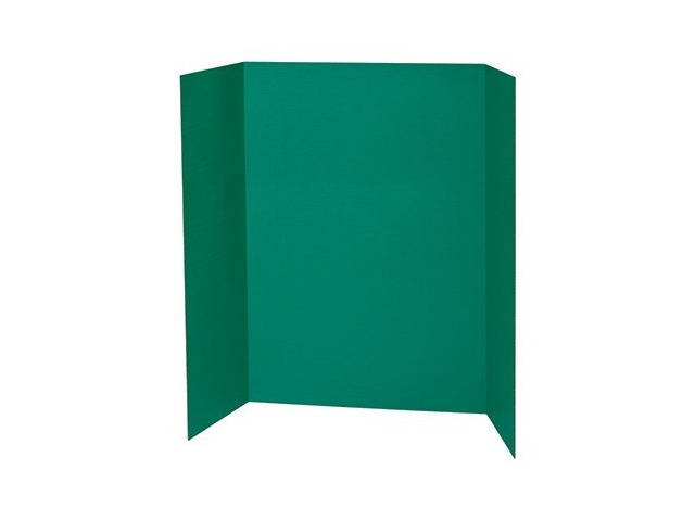 spotlight 1 ply trifold display board 48 width x 36 height green