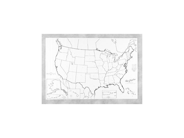 Giant Us Map Wizard Of Math - Giant us map