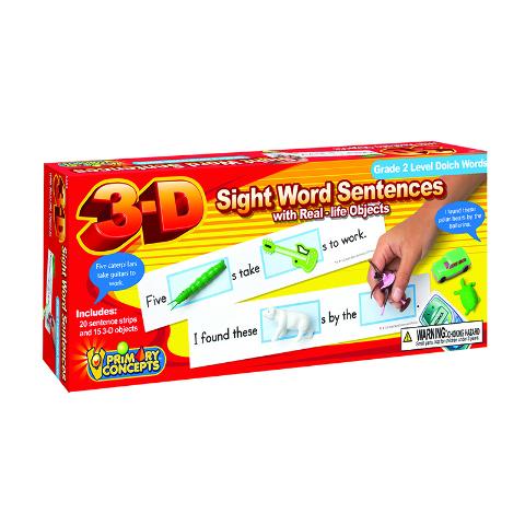 3-D SIGHT WORD SENTENCES GRADE 2
