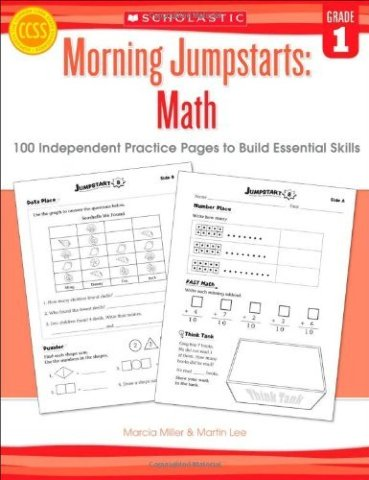 Morning Jumpstarts: Math (Grade 1): 100 Independent Practice Pages to Build Essential Skills