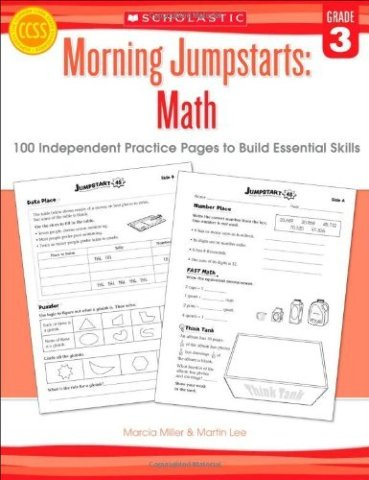 Morning Jumpstarts: Math (Grade 3): 100 Independent Practice Pages to Build Essential Skills