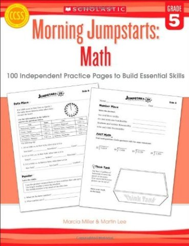 Morning Jumpstarts: Math (Grade 5): 100 Independent Practice Pages to Build Essential Skills