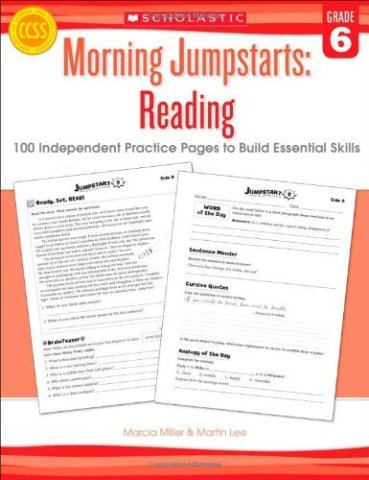 Morning Jumpstarts: Reading (Grade 6): 100 Independent Practice Pages to Build Essential Skills