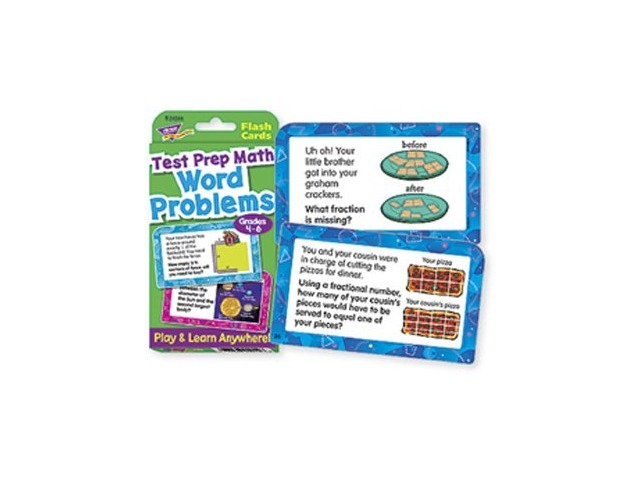 Word Problems Test Prep Math, Grades 4-6 Challenge Cards