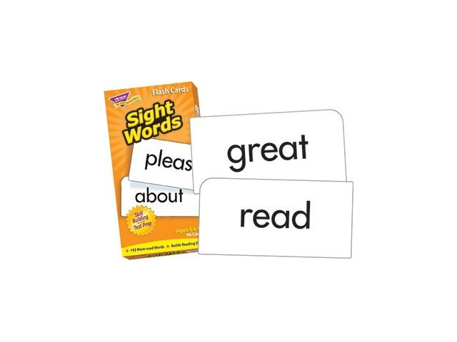 Flash Cards: Sight Words; 96 Cards; no. T-53003