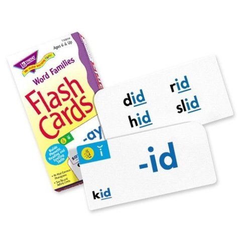 Trend Enterprises T53014 Flash Cards, Word Family Skill Drill, 96 Cards