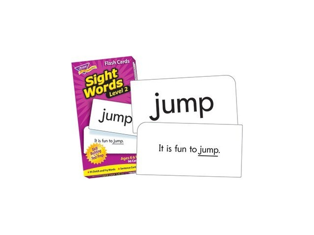 Skill Drill Flash Cards: Sight Words - Level 2