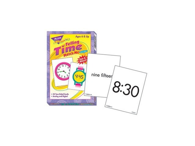 Match Me Cards: Telling Time; 52 Card Set