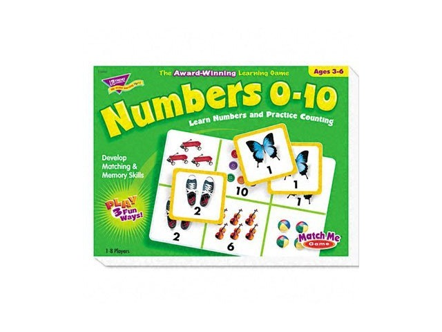 Numbers 0-10 T58102 Match Me Puzzle Game, Ages 3-6.