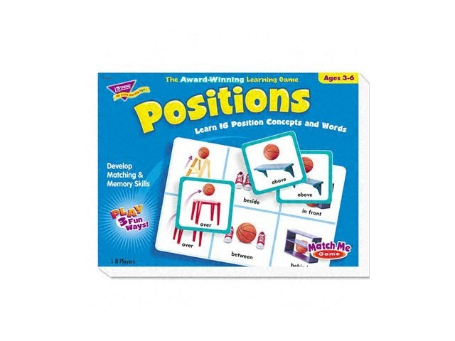Trend T58104 Trend Positions Match Me Game, Ages 3-6