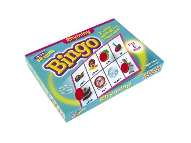 Trend Enterprises T6067 Rhyming Bingo Game,Includes 36 Playing Cards/Over200 Chips