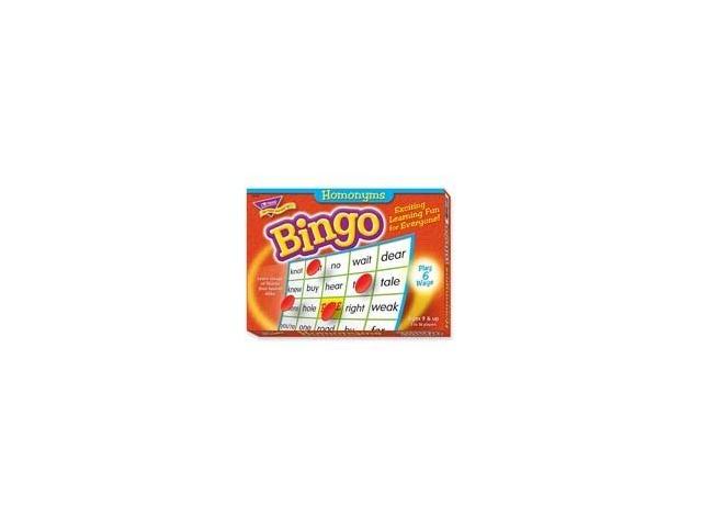 Homonyms Bingo Game
