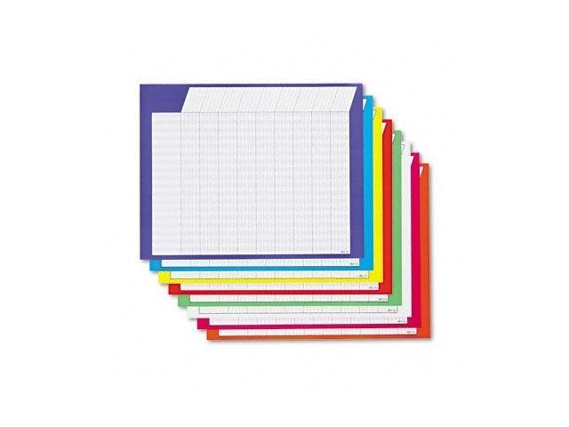 Trend T73902 Horizontal Jumbo Incentive Charts, 22 x28, 36 Rows/45 Columns, 8/pack