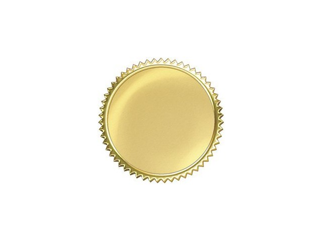 Gold Burst Award Seals Stickers; 32 Per Pack