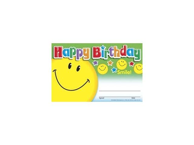 Awards: Happy Birthday Smile; 30 Per Pack; no. T-81018