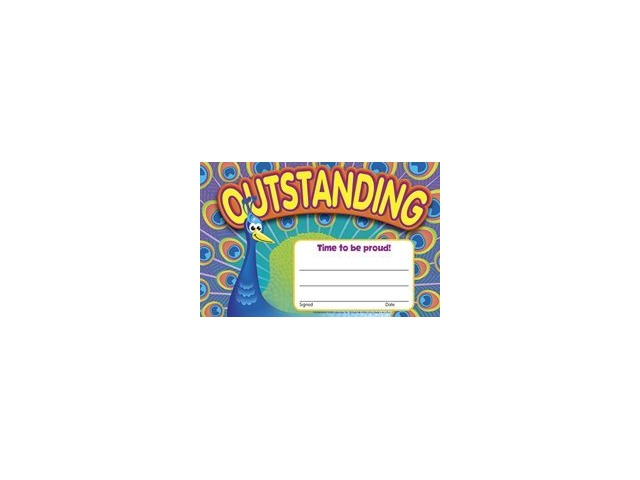 Recognition Awards: Outstanding-Peacock; 30 Per Pack