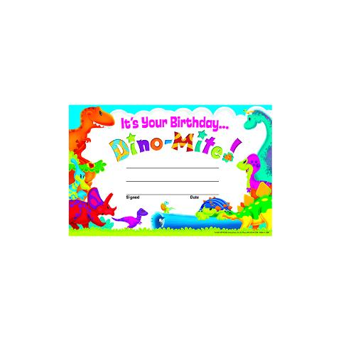 BIRTHDAY DINO-MITE PALS RECOGNITION