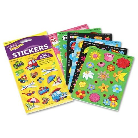 Trend Enterprises Stinky Stickers Mixed Shaped Jumbo Variety Pack - Pack of 525
