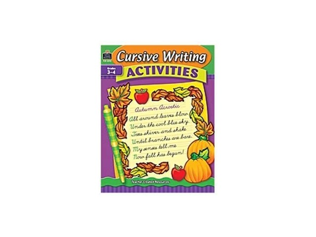 Teacher Created Resources Cursive Writing Activities