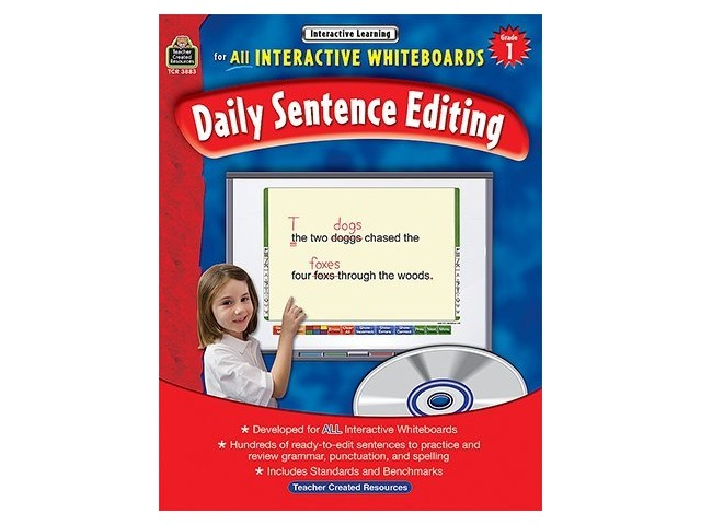 Interactive Learning: Daily Sentence Editing, Grade 1